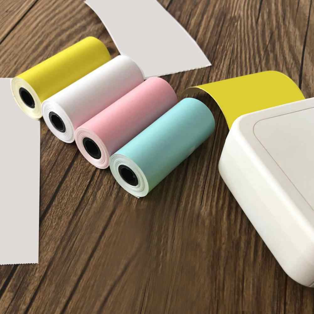 1 Roll 57*25 Mm Warna-warni Thermal Printing Menempel Kertas untuk Memobird GT1 Pergi G3 POS Printer Foto