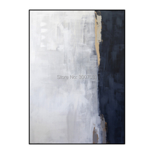 white and blue acrylic abstract oil paintings Wall art hand painted on Canvas cuadros decoracion for living room wall