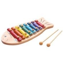 1 шт. Детские развивающие Музыкальные инструменты игрушки пианино в форме рыбки серинетт мультфильм игрушечные скрипки лучшие подарки для детей дошкольного возраста St