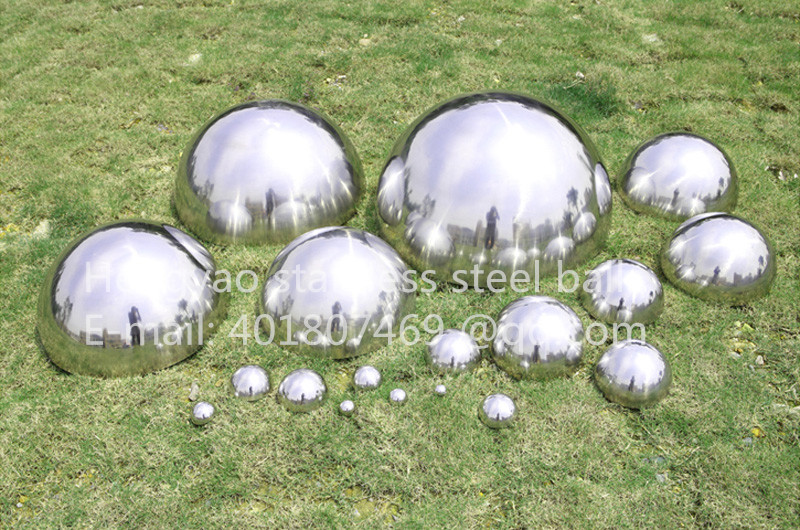 Stříbrný dia 200mm 20cm 304 z nerezové oceli duté polokoule leštěné zrcadlo výtah dekorativní hemisférová ocelová trubka