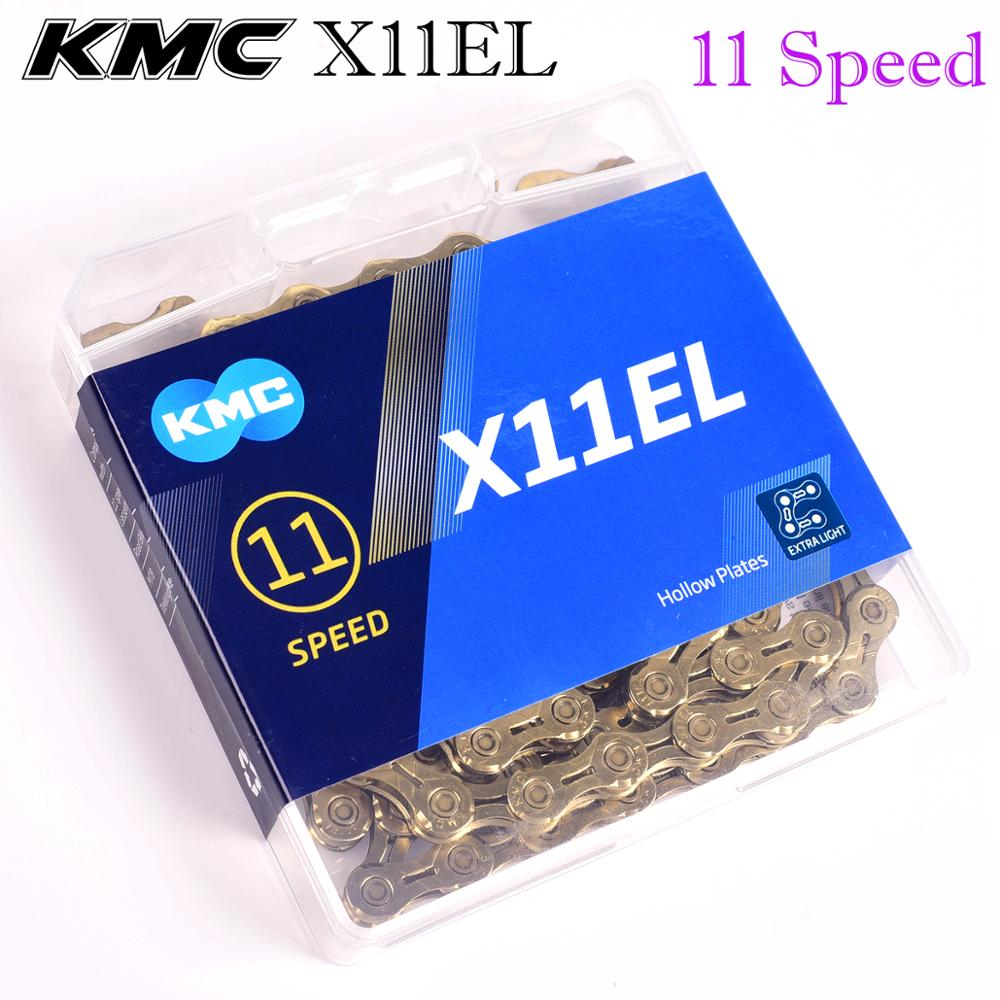 KMC Chain 6 7 8 9 10 11 speed X11EL X10 X11 with titanium gold silver for mtb road bicycle <font><b>giant</b></font> <font><b>bike</b></font> <font><b>accessories</b></font> cycling parts image