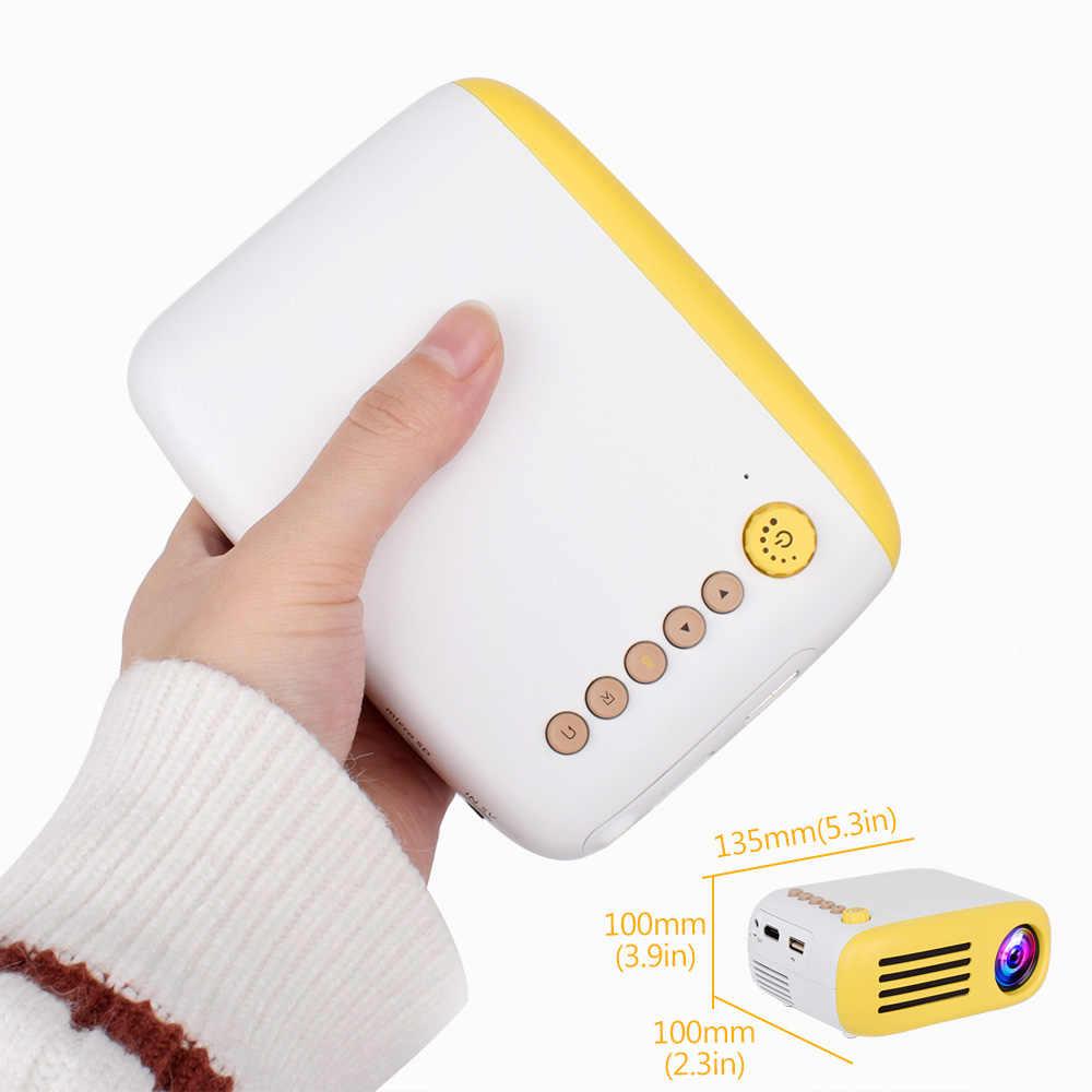 New-YG200 المحمولة LED جيب جهاز عرض صغير AV USB SD HDMI فيديو فيلم لعبة المنزل حزب المسرح عارض فيديو
