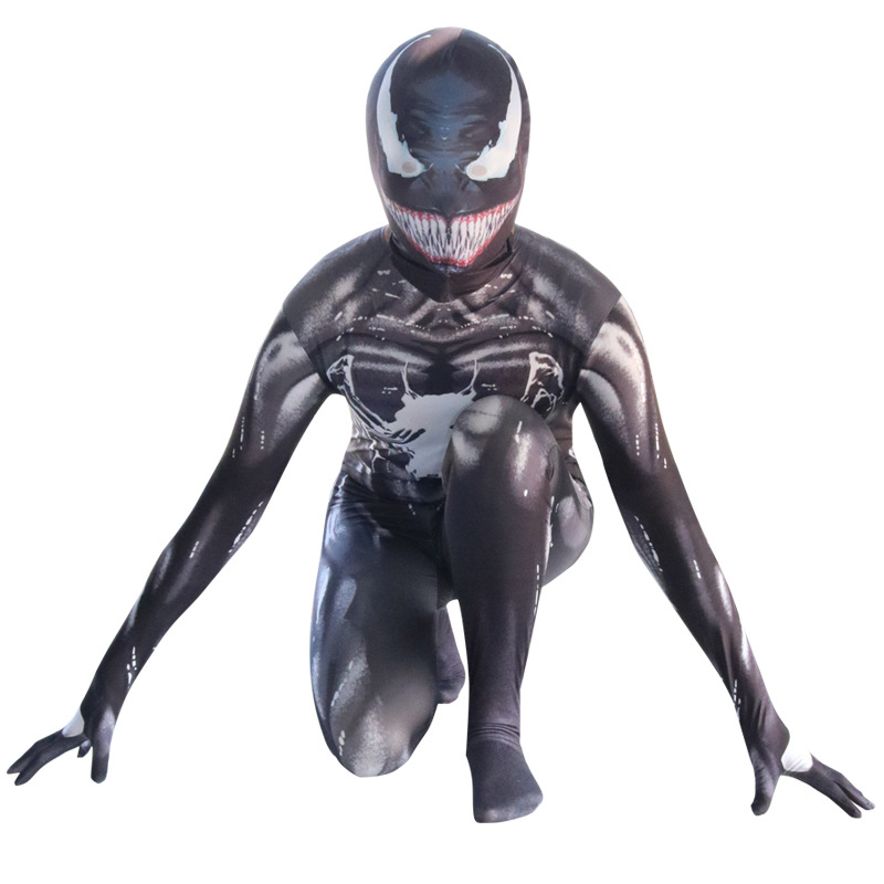High Quality Venom Spiderman Cosplay Costume Marvel Superhero Movie Venom Costume Adult Kids Boys Halloween Costume For Kids
