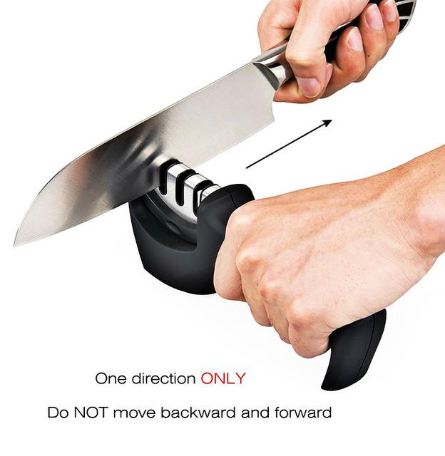 Knife Sharpener 3 Stages Stone Grinder Tungsten Steel Diamond Ceramic Sharpener Tool Hot Cheap Professional Kitchen Accessories