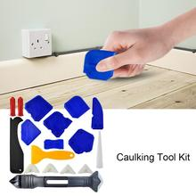 18PCS Caulking Tool Kit Caulking Tool Silicone Sealant Finishing Tool Grout Scraper for Bathroom Kitchen Sealing pneumatic sealant gun 600ml air gun valve silicone sausages caulking tool caulk nozzle glass rubber grout construction tools