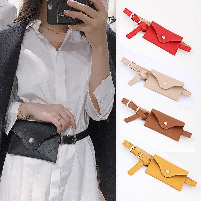 2018 fashion new women waist packs bag multifunction women bag fashion leather phone waist bags small belt handbag