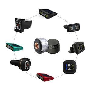 Image 3 - Neumático profesional sistema de supervisión de presión, sensores, con TPMS para motocicleta, antirretroceso con tuercas, color negro y plateado