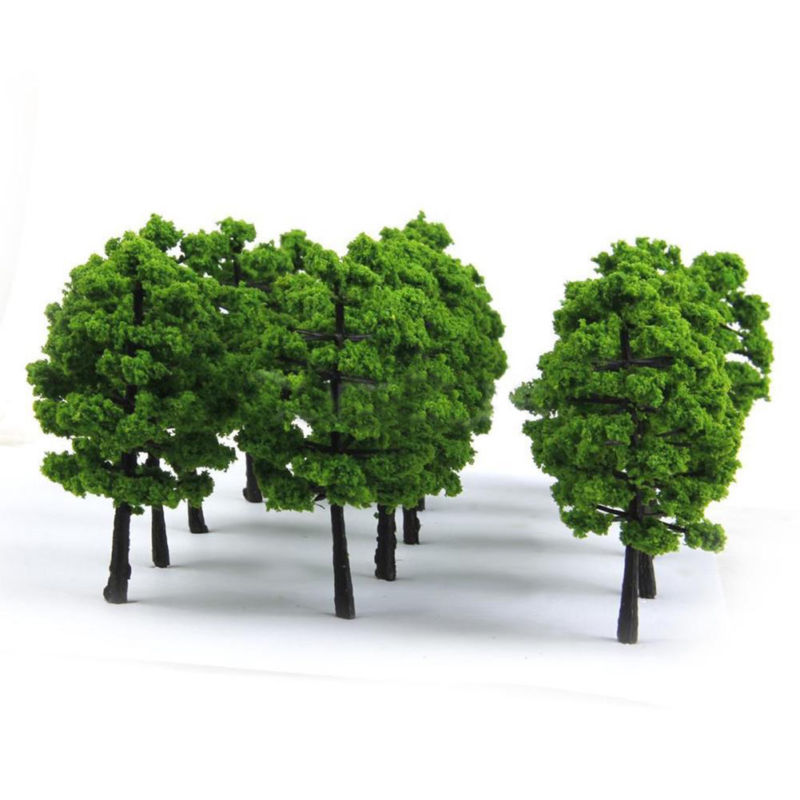 20pcs 7cm Model Trees For Train Railroad Diorama Wargame Park Landscape Scenery