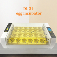 High Hatching Rate 24 Automatic Egg Incubator Automatic Turning Hatcher Egg Hatchery Machine Parts For Chicken Duck Quail Parrot