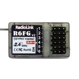 Image 4 - Радиоуправляемый гироскоп высокого напряжения Radiolink R6FG V2 2,4 ГГц 6 CH приемник FHSS Интегрированный для RC4GS RC3S RC4G T8FB RC6GS передатчик Радиоуправляемый автомобиль Лодка