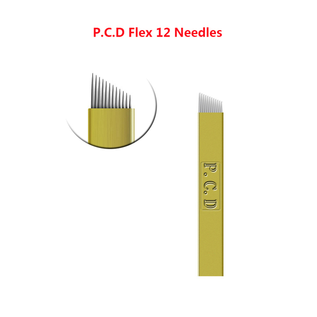 100pcs Hard PCD 12/14//19 pin U SHAPE Microblading Needles for Tattoo Permanent Makeup Eyebrow Blades for Manual Tatoo Pen 4
