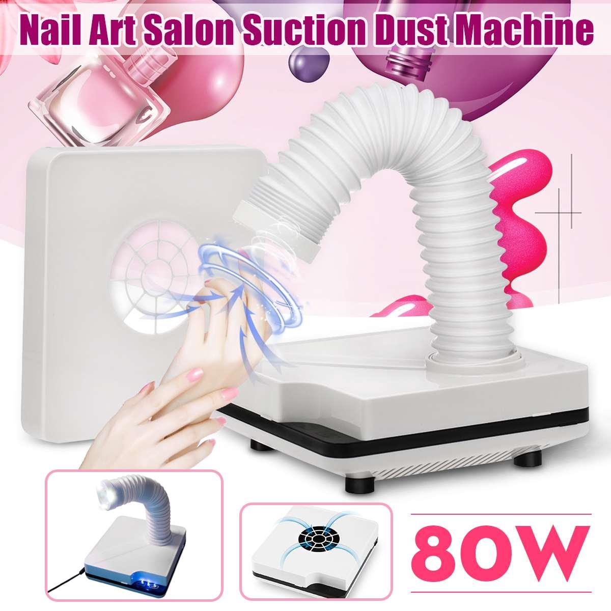 80 W forte puissance ongles aspiration collecteur de poussière ongles collecteur de poussière aspirateur ongles ventilateur Nail Art Salon manucure Machine
