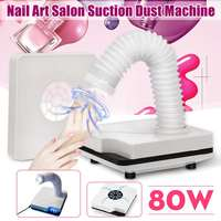 80W Strong Power Nail Suction Dust Collector Nail Dust Collector Vacuum Cleaner Nail Fan Nail Art Salon Manicure Machine