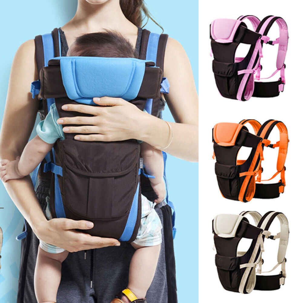 2019 Newest Style Newborn Infant Toddler Baby Carrier Breathable Ergonomic Adjustable Wrap Baby Carrier Slingshot 0-24 Months