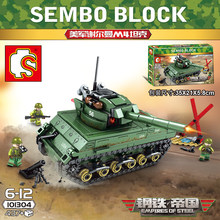 437pcs 2WW Compatible legoingly Military Series USA Army Building Blocks M4 Sherman Model Military Bricks Toys For Chlidren(China)