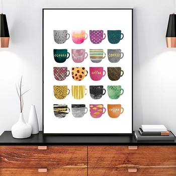Sólo vives una vez Multi colores tazas de cuadros modernos pared ...
