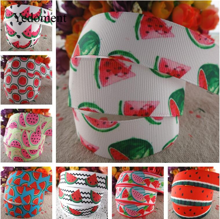 "5 Yards 7//8/"" Watermelon Fruit Pattern Cute Grosgrain Ribbon Craft 22mm"