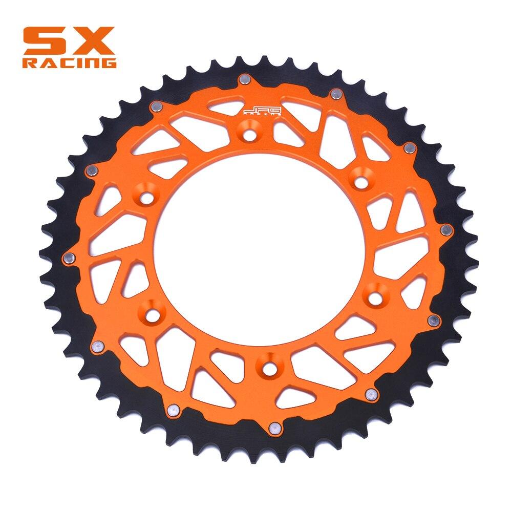 Motocicleta 51 49 48 47 44 t t t t t 52 t Cadeia de Motor Parte Traseira Da Roda Dentada de Aço Para SX SXF XCW KTM EXC XC XCF EXCF XCFW SXS SMR SMC LC4