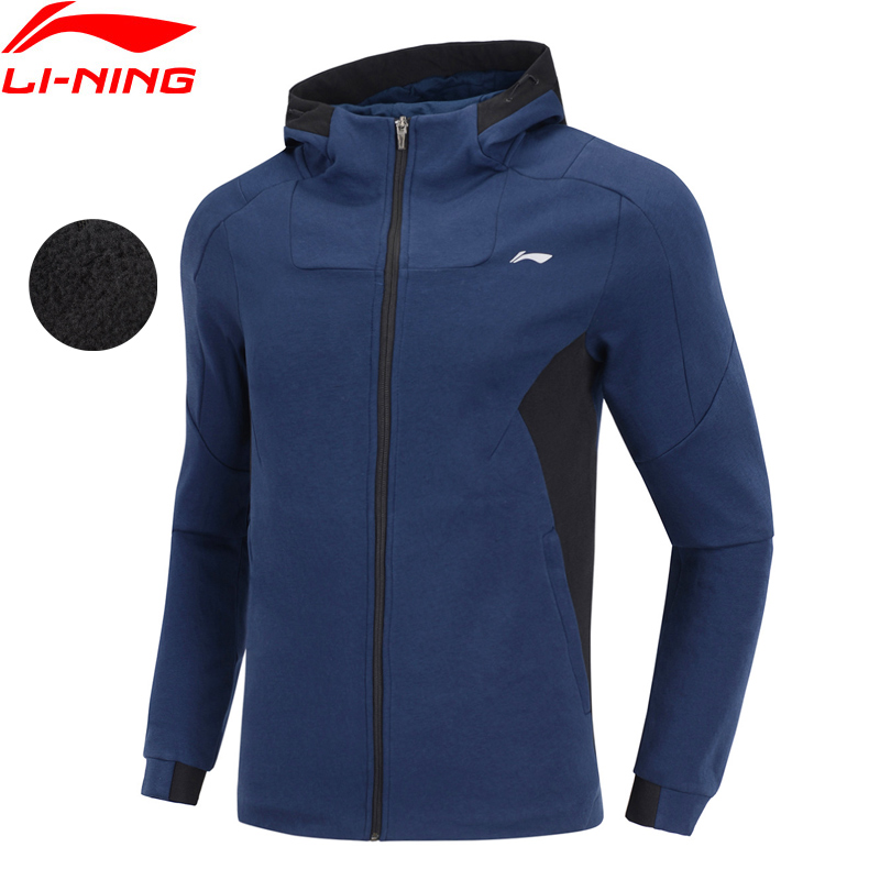 (Break Code)Li-Ning Men Training Hoodie WARM SHELL Regular Fit 100% Cotton Sweater LiNing Li Ning Sports Coat AWDN839 MWW1495