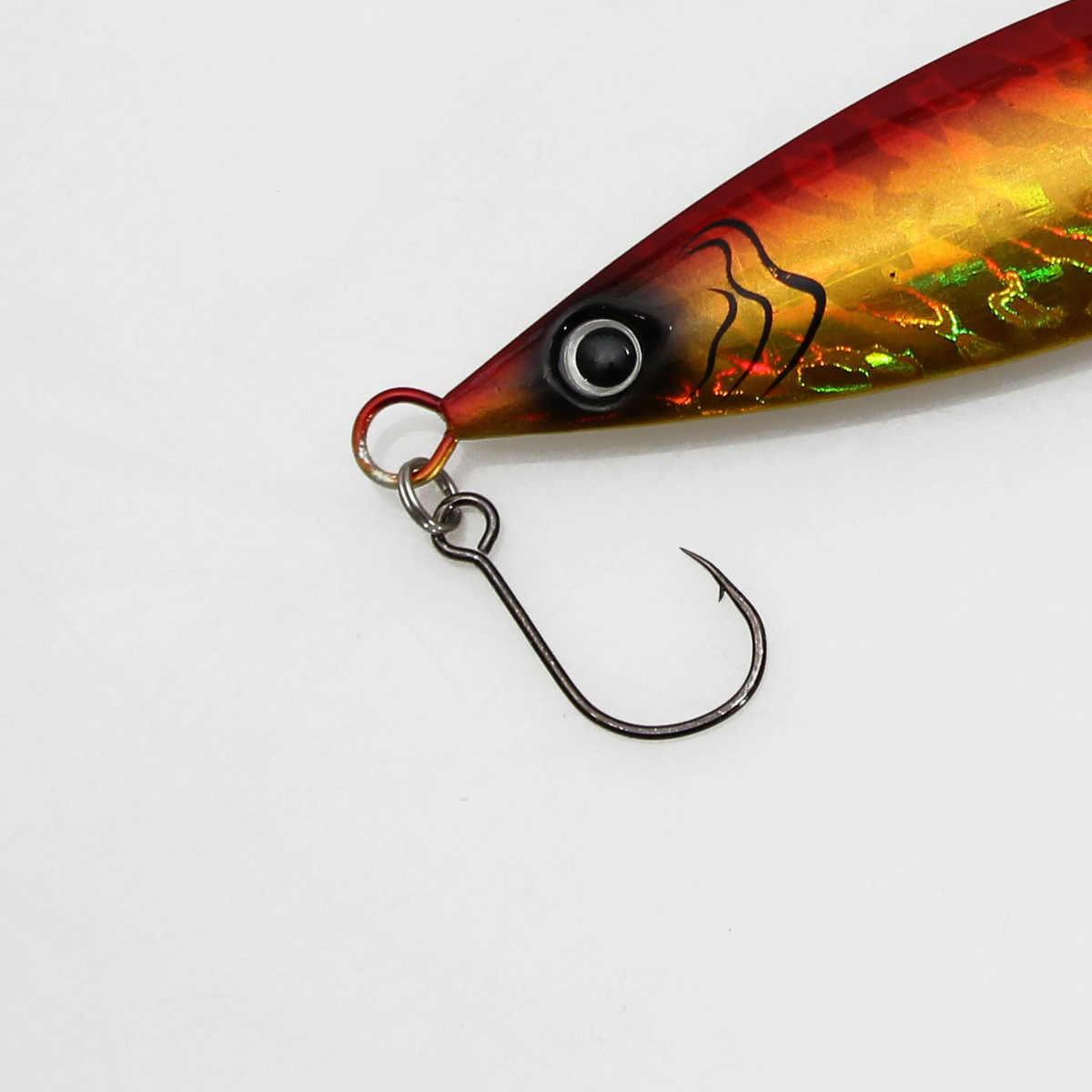 2/0 1/0 1 2 3 4 גדול עין אחת וו Inline קרסים 12 יח'\אריזה עבור פיתיון חי ו Hardbait אחת דיג ווים