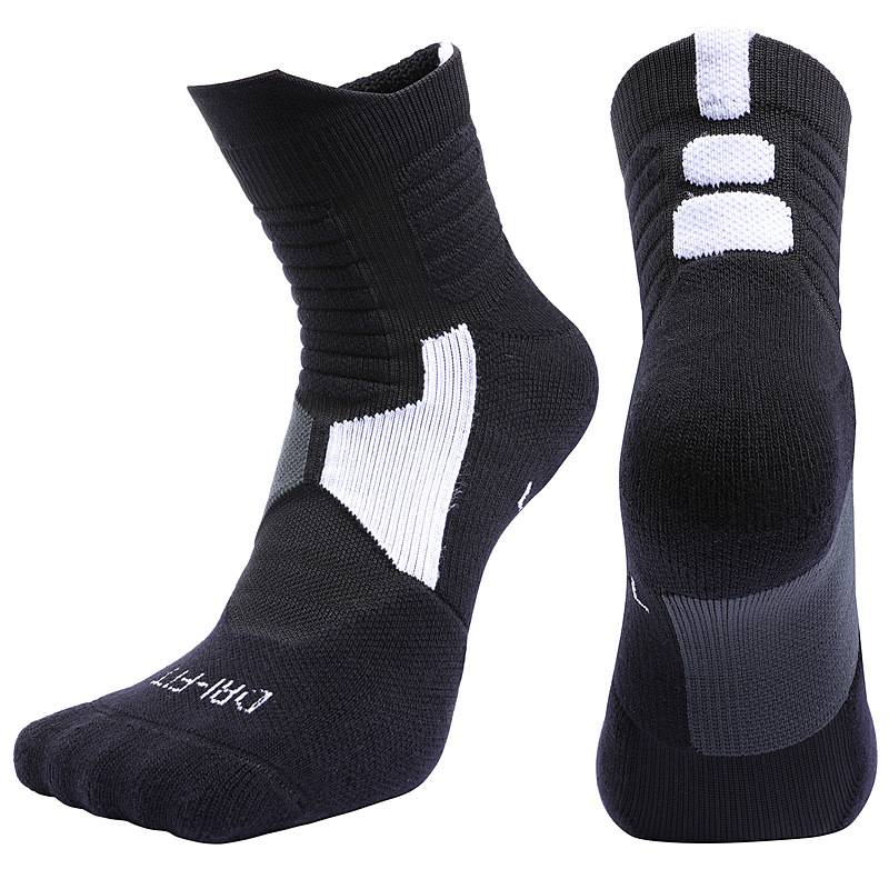 Image 2 - Professional basketball socks tube deodorant Thermal Winter Thick Compression Ski Tubing Outdoor sports fitness Sweat Towel Sock-in Cycling Socks from Sports & Entertainment