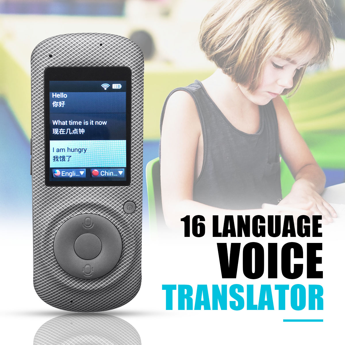 Smart Voice Translator Two Way Real Time 16 Language Translation Text Portable Translator Traducteur Vocal Learn Russian English