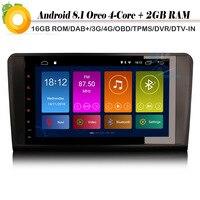 9 Android 8,1 Авто Радио стерео система со спутниковой навигацией DAB + WiFi 4G gps RDS с диагностическим разъемом и цифровым видеорегистратором BT автомо