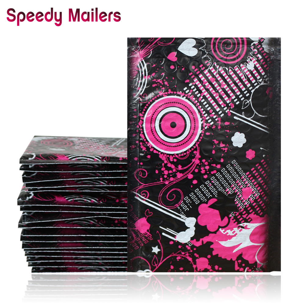 Speedy Mailers 10pcs 120x180mm 4x7/inch Poly Bubble Mailers Bubble Envelopes Creative Pattern Bubble Lined Poly Mailer