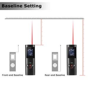 Image 5 - أسود 40 متر يده آلة حفر بالليزر صغيرة Rangefinder مقياس مسافات قياس قابلة للشحن الرقمية LCD الخلفية مترو المدى مكتشف م/قدم/في