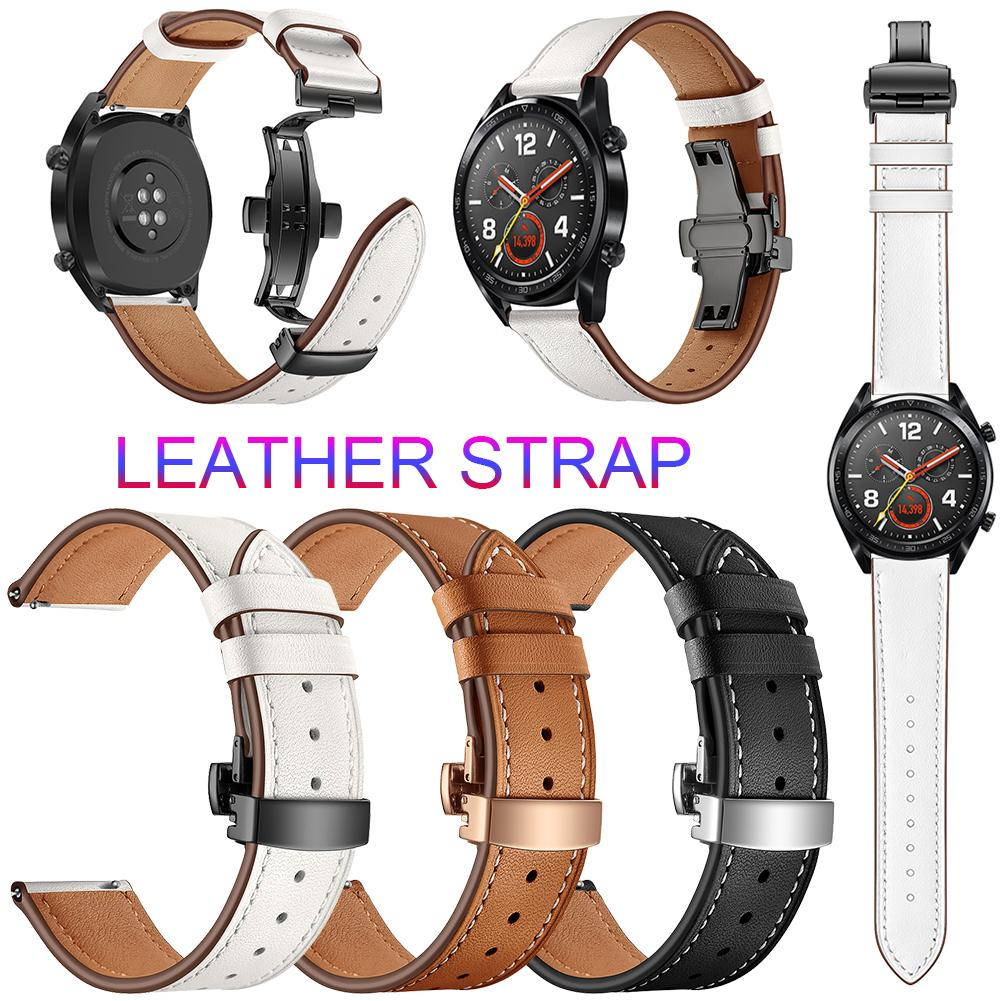 Image 2 - Smart Sports Watch With Strap Leather Watch Strap Watch GT Butterfly Buckle Leather Watch Band 22MM Classic And Stylish-in Smart Accessories from Consumer Electronics