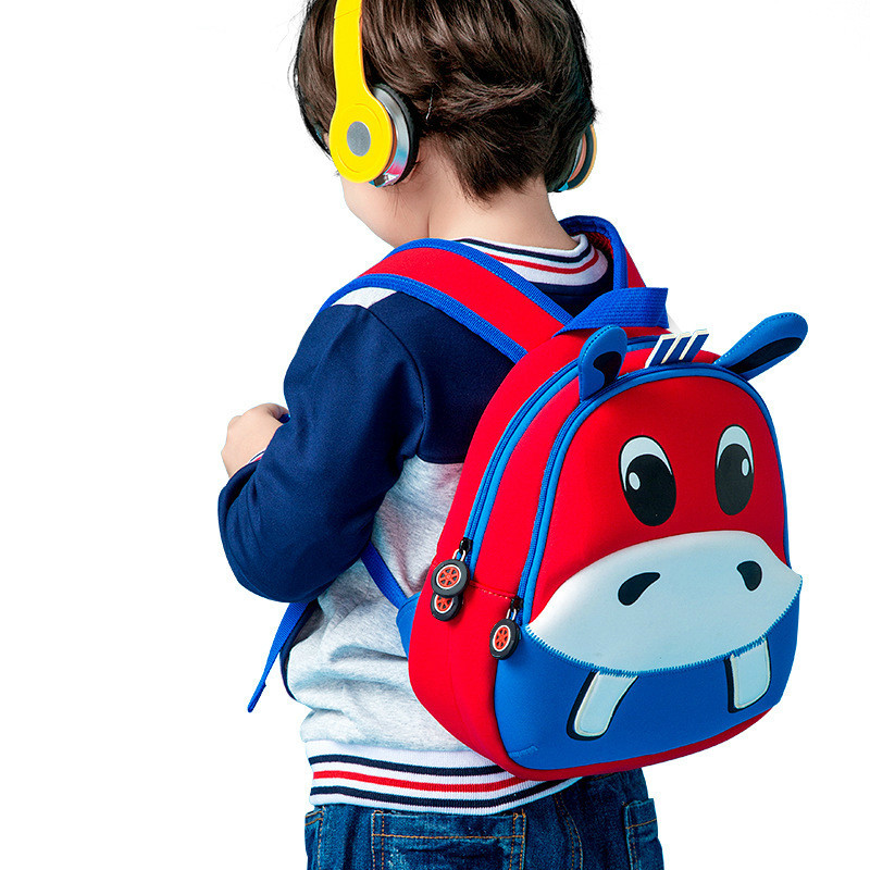 Neoprene Material 3-6 Year Old School Bags For Boys Hippo Backpacks Child Cartoon Book Bag Kids Shoulder Bags Satchel KnapsackNeoprene Material 3-6 Year Old School Bags For Boys Hippo Backpacks Child Cartoon Book Bag Kids Shoulder Bags Satchel Knapsack