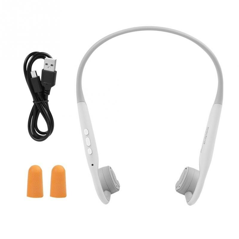 Bone Conduction Wireless Headphone Bluetooth 5.0 Sports Headset Outdoor Earphone Gray With Long