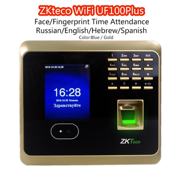 ZKteco WiFi UF100Plus FaceFingerprint Time Attendance with Free Software Biometric facial Fingerprint Employee Time Attendance iphone 6