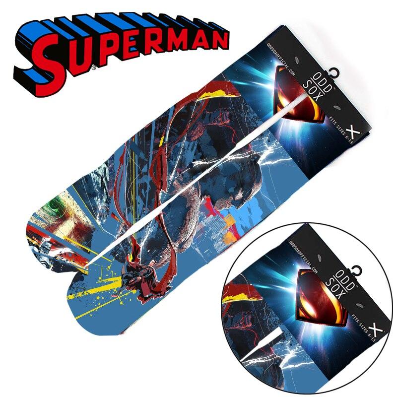 "Wellcomics 4x16"" DC Justice League Superman Batman Wonder Woman Cotton Socks Colorful Stockings Tights Cosplay Costume Gifts"