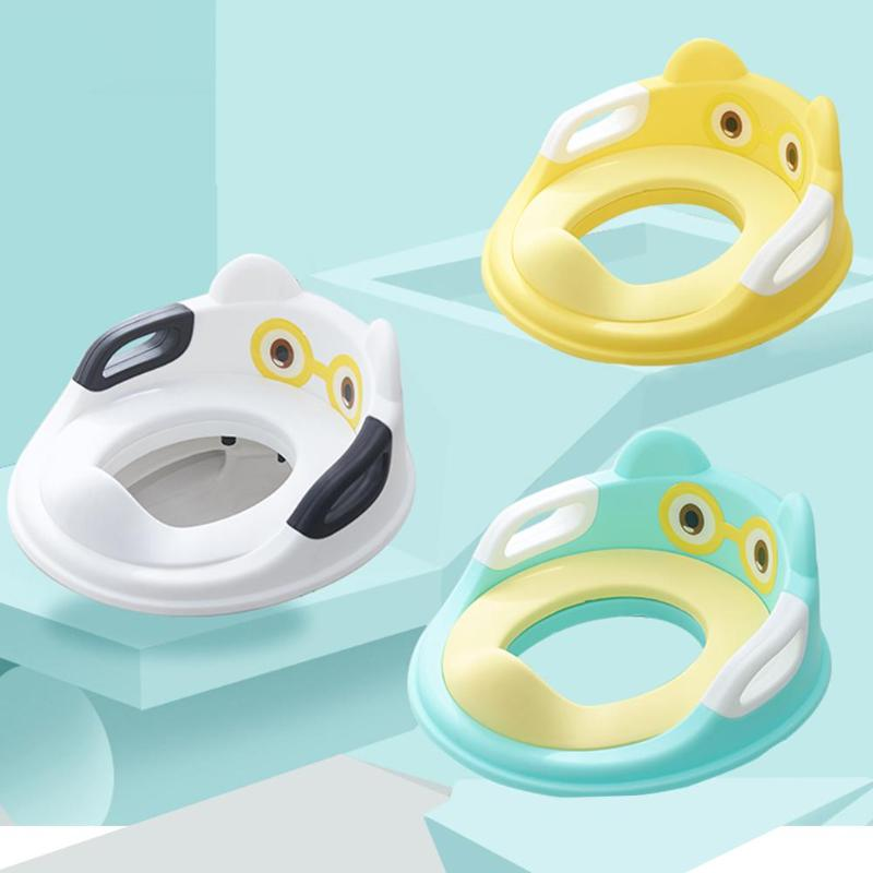 Baby Toilet Potty Training Safe Seat For Kid With Armrests Infant Urinal Cushion Comfortable Toilet Large Size Ring Infant Potty