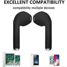 2018 hot selling Bluedio TWS i7S Wireless Earphone Headphone BT True Wireless Earbuds With Charging Case(China)