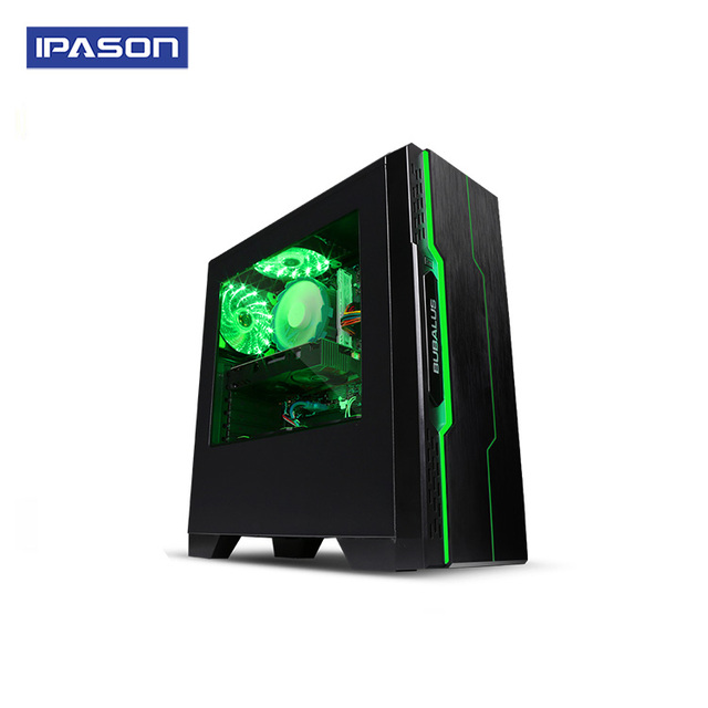 Mini-Gaming PC IPASON A3+AMD 4-Core 8-threads Ryzen5 2400G DDR4 8G RAM/1T+120G SSD win10 barebone system Desktop computer