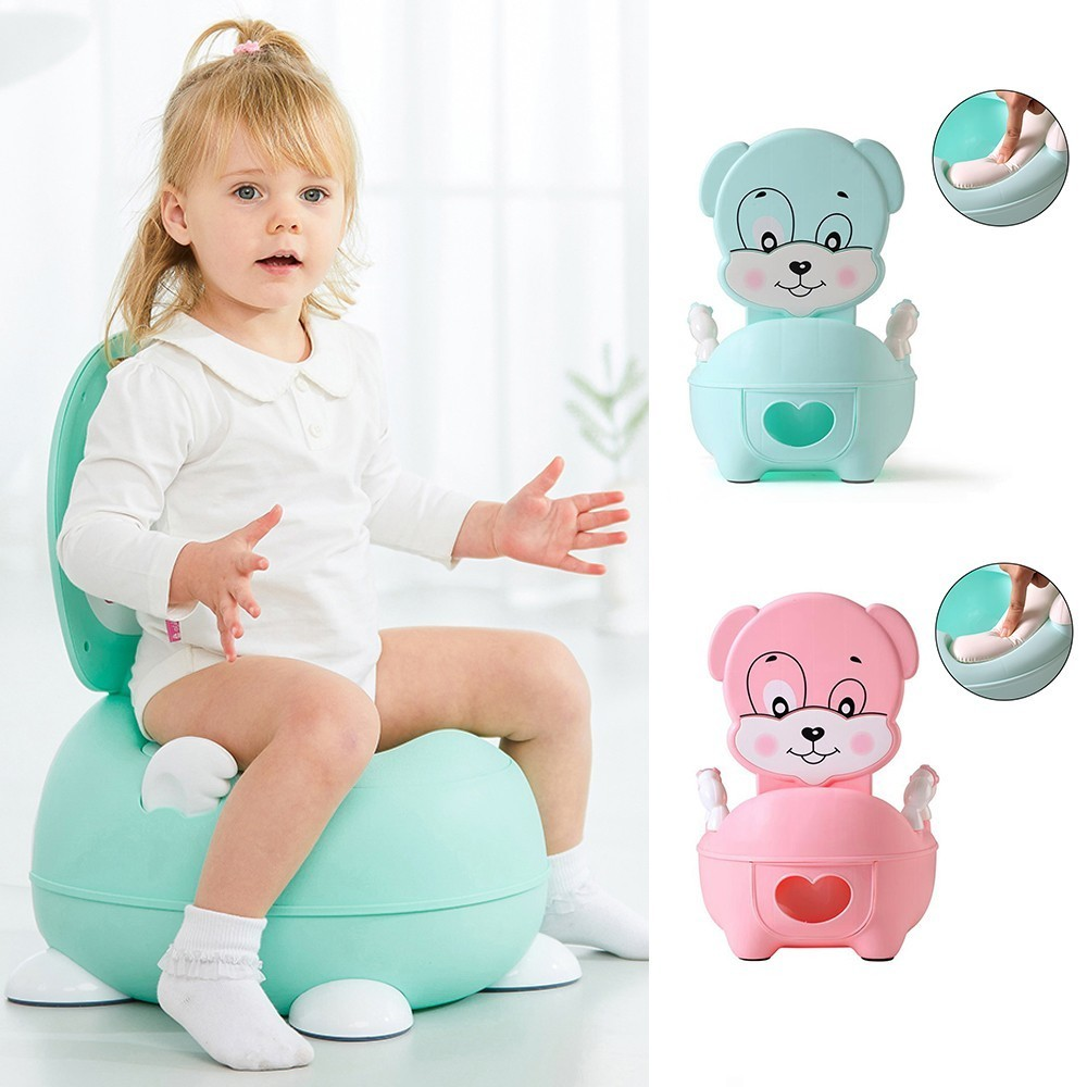 Wc Portatil Portable Baby Accessories Cute Child Plastic Toilet Children Kids Training Seat Children's Bowl Pot Urinal-boy Potty image