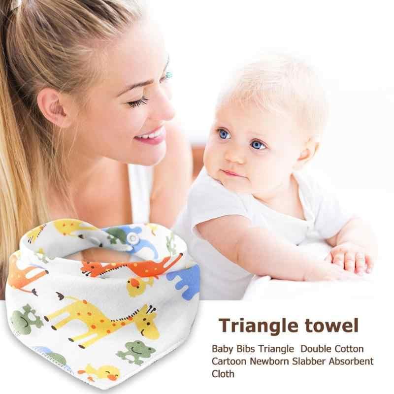 Baberos infantiles ajustables reutilizables bebé recién nacido Saliva toalla eructar algodón lavable triángulo Baberos Burp dibujos animados impreso Tod