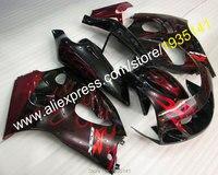 Лидер продаж, для Suzuki SRAD GSXR600 GSXR750 GSXR 600 750 1996 1997 1998 1999 2000 красное пламя Подержанный мотоциклетный обтекатель Наборы