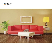 Laeacco Modern Living Room Sofa Backdrop Vase Flower Photography Background Photographic Backdrops For Photo Studio allenjoy photographic background european royal family living room backdrops princess boy studio fabric 7x5ft