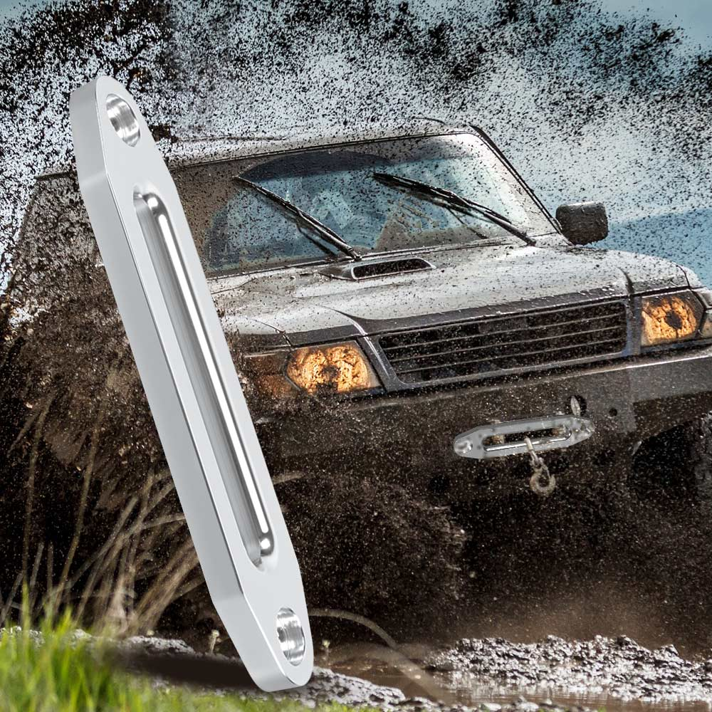 US $12 91 35% OFF Universal 12000lbs Winch Rope Guide Hawse Aluminum  Fairlead for Off road 4WD Automotive Accessories for 12mm x 25mm 10mm x  30mm-in