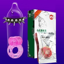 3pcs/box Men Sexual Thick Enlarge Natural Latex Fun Spike Sex Toys Condom Delay Vibrating Penis Cock Ring Adult Product