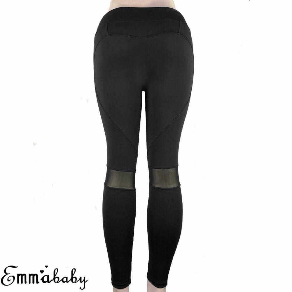 Women Yoga Pants Fitness Leggings Run Jogging Workout Gym Exercise Sport Trouser