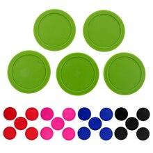 5 шт. 62 мм прочные пластиковые воздушные Хоккейные шайбы выбор цветов развлекательные настольные игры стандартные воздушные Хоккейные шайбы аксессуары