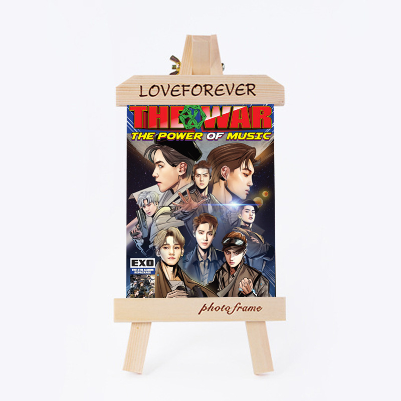 exo Wood Frame Photo Kpop Fans Collection Sa18090310 Famous For Selected Materials Novel Designs mykpop Delightful Colors And Exquisite Workmanship Fast Deliver