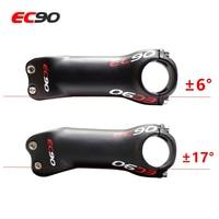 EC90 carbon fiber riser highway bicycle ultra light stem riser rod MTB Bicycle stem riser faucet 17 degree 6 degree 31.8 28.6