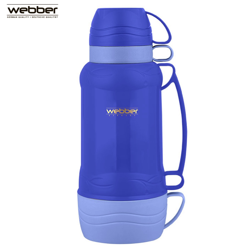 Vacuum Flasks & Thermoses Webber 42001/9S Blue thermomug thermos for tea Cup stainless steel water hand movement 7 0mpa vacuum water pump for water pressure test pipe leak hunting