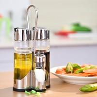 1pcs Clear Glass Olive Oil Vinegar Salt Pepper Set Oil Vinegar Dispenser Shaker Cruet Set Spice Bottle Glass Stainless Steel Cap