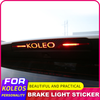 Sticker For Renault Koleos 2017 To 2018 Brake Lights Decorative Cover High Mount Stop Lamp Stickers Carbon Fiber Car Styling image
